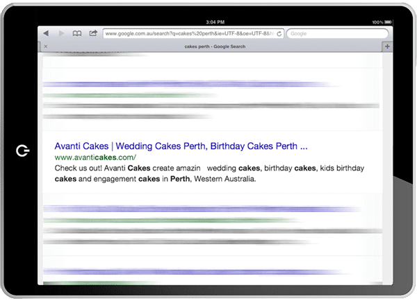 TechTiger: SEO Perth for Avanti Cakes.