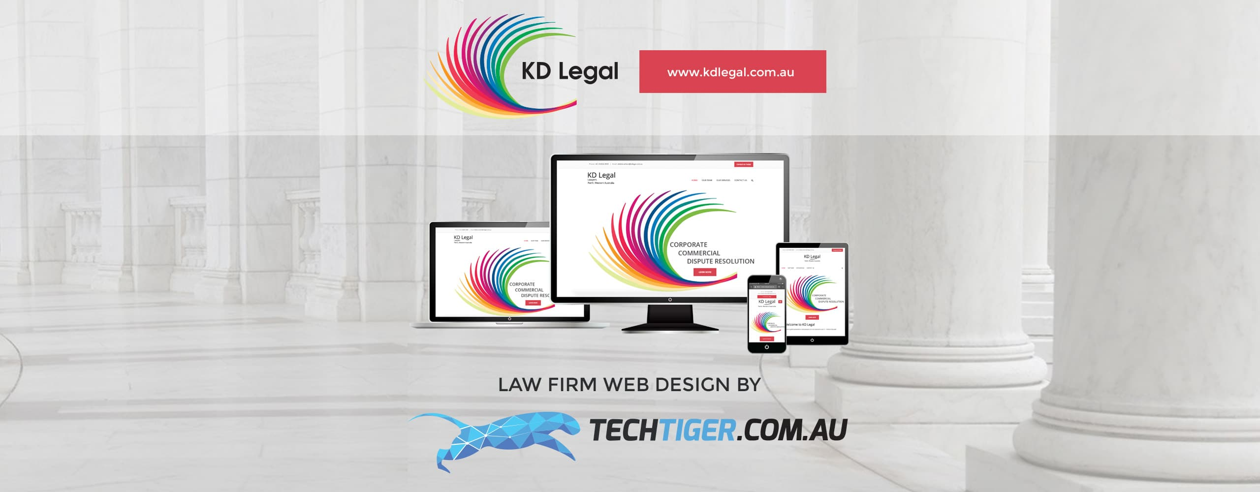 TechTiger: KD Legal law firm website design