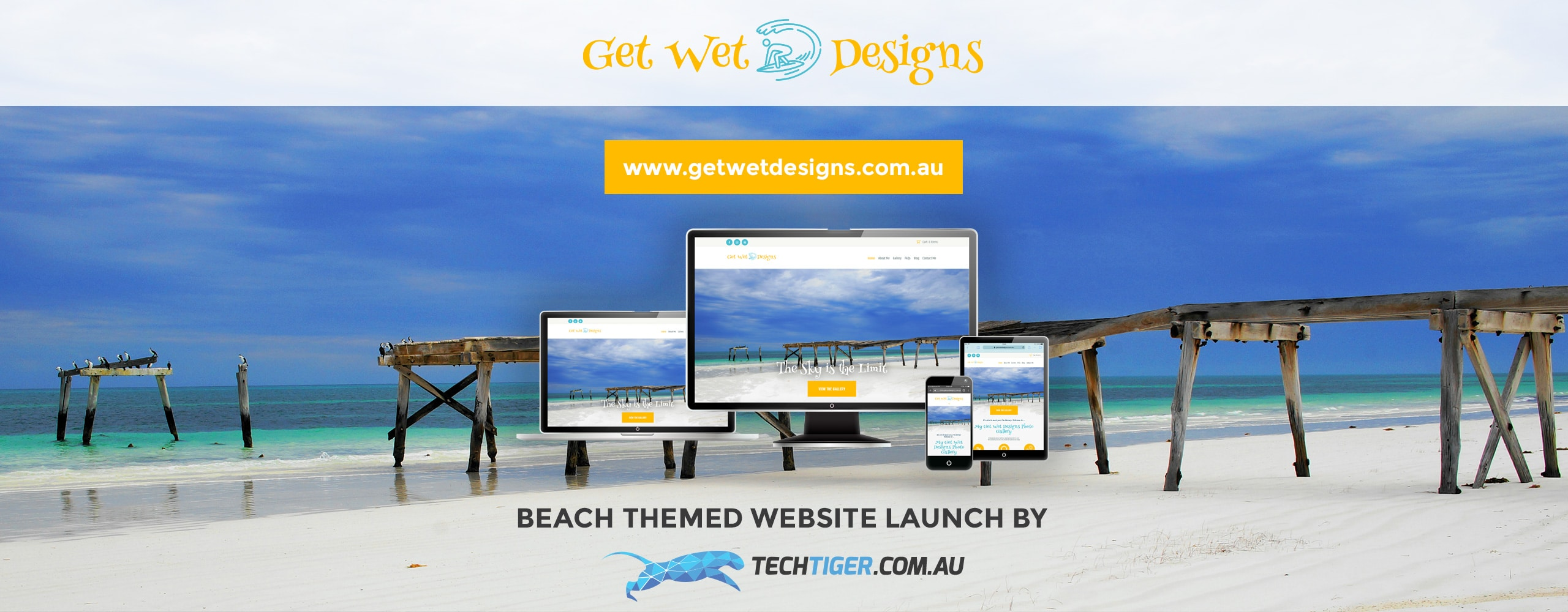 TechTiger: Beach Themed Websites for Get Wet Designs