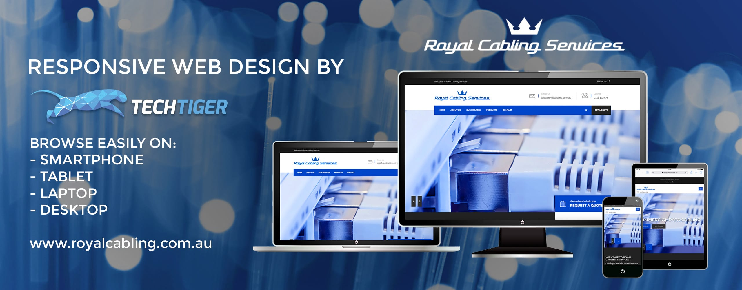 TechTiger: Responsive Web Design for Royal Cabling Services